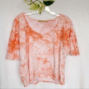 Tee by Big Star Orange Tye Dye Tee Shirt Small